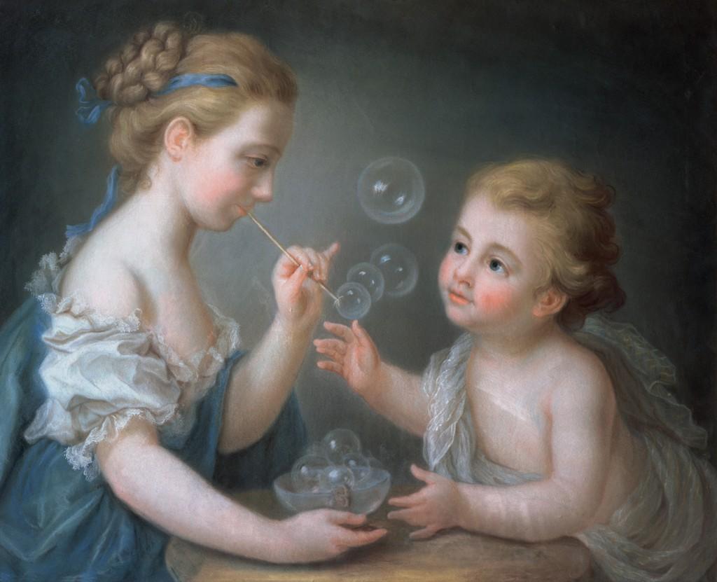 """""""Children Blowing Soap Bubbles."""" 18th c."""