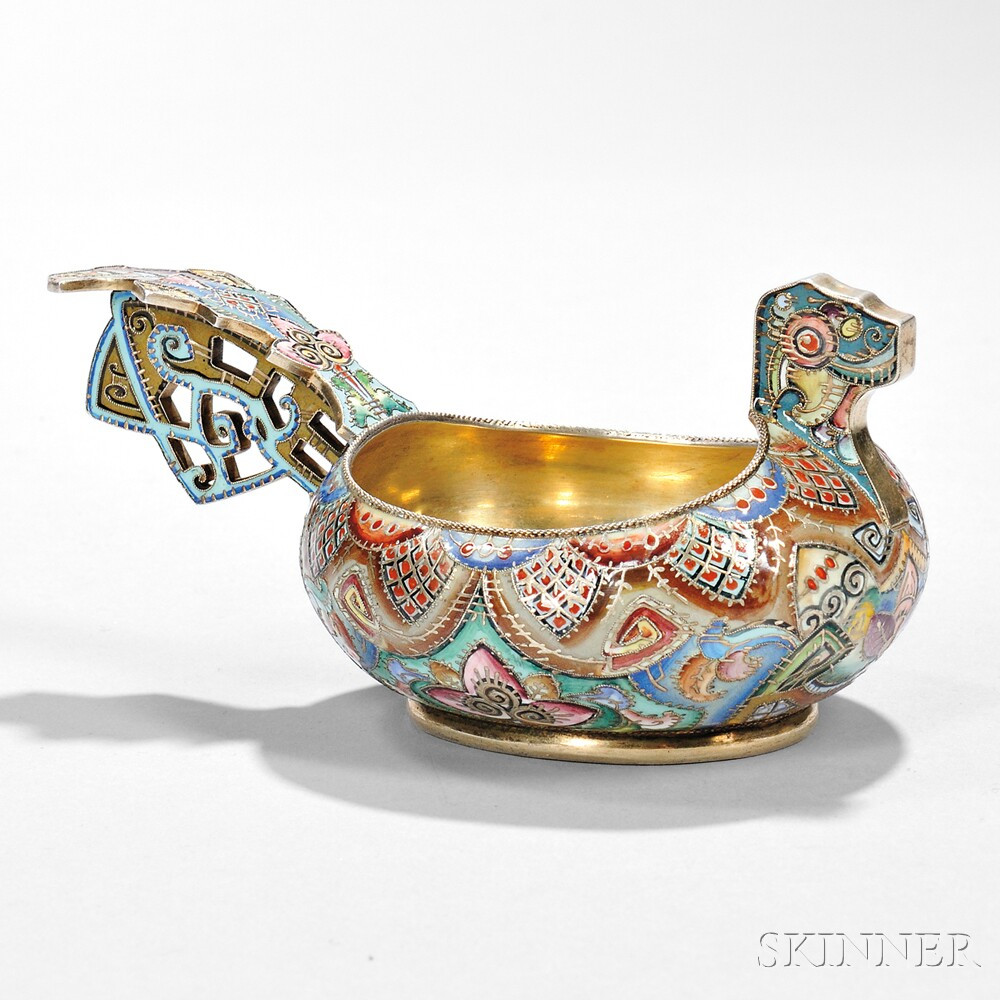 Kovsh in the design of a dragon. 1908-1917. Made in Moscow.