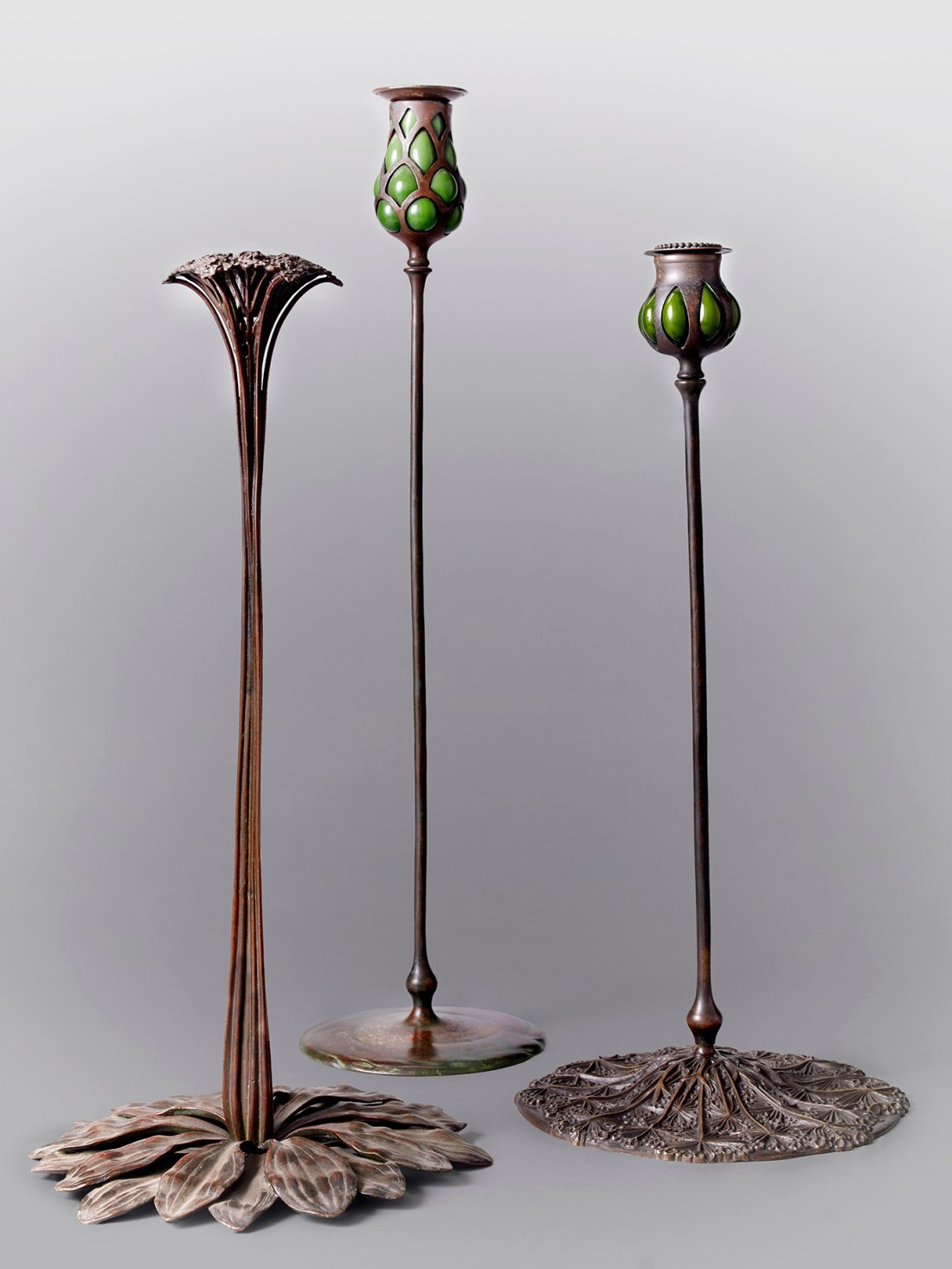 Group of candlesticks. ca. 1900.