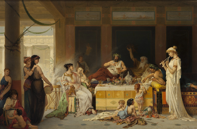 """""""Roman Banquet."""" 1876."""