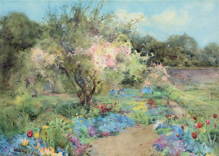 """The Garden at Kilmurry."" No date."