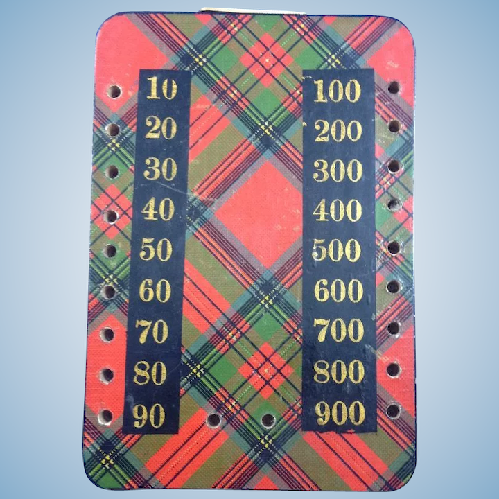 Tartan ware game counter. ca. 1900.