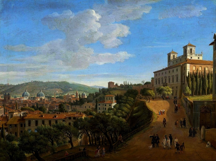 """""""View of Rome from Villa Medici."""" 1712."""