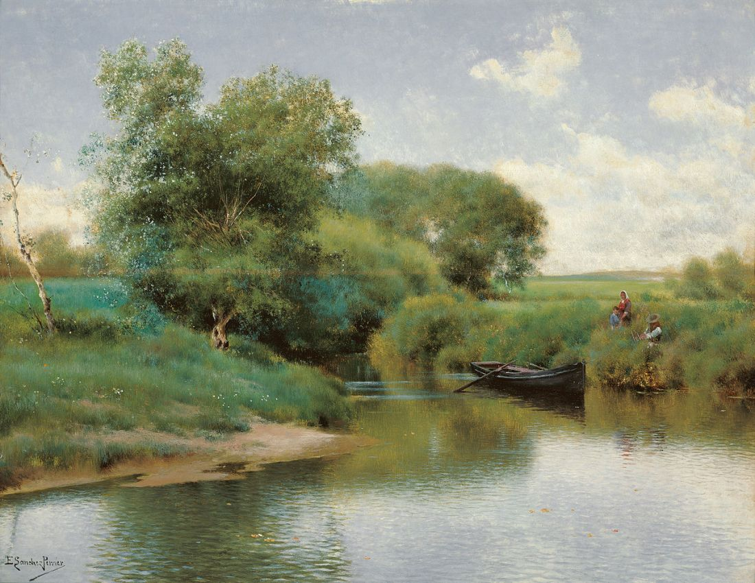 """""""Boating on the River."""" ca. 1890."""