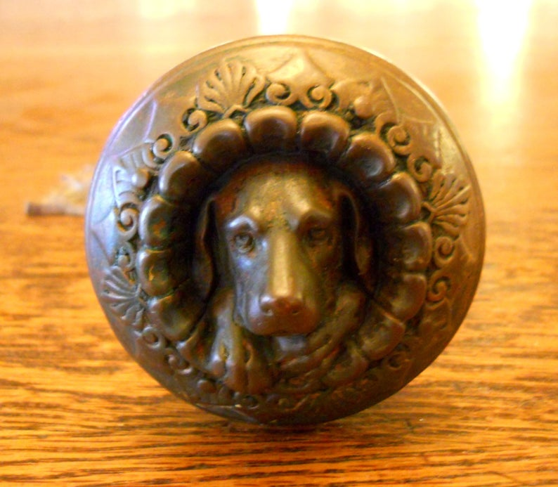 Doorknob in a dog design. 1869.