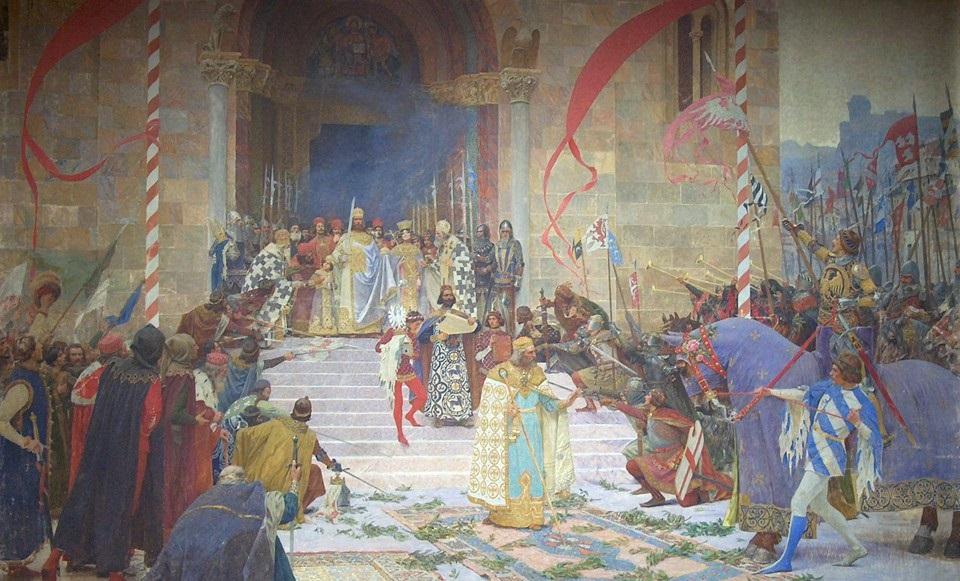 """""""Krunisanje cara Dušana"""" (Coronation of Tsar Dušan). 1900."""
