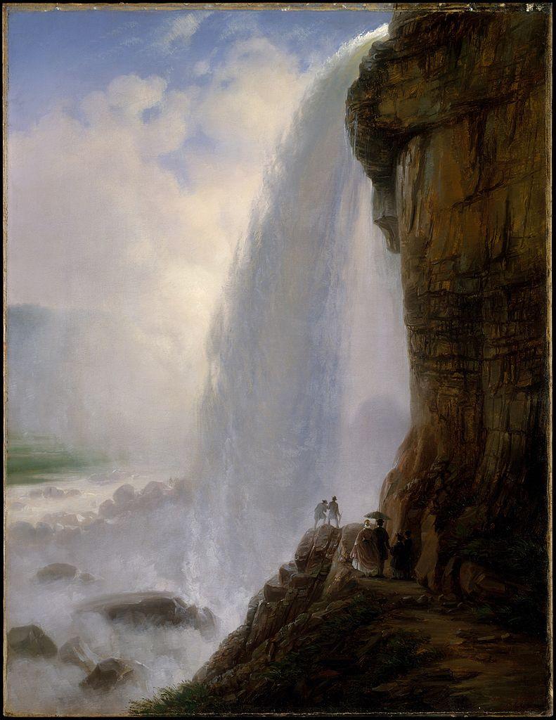 """""""Underneath Niagara Falls."""" 1862."""
