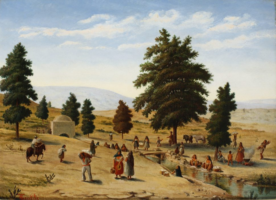 """""""Lavanderas"""" (Wash Day on San Pedro Creek) No date."""