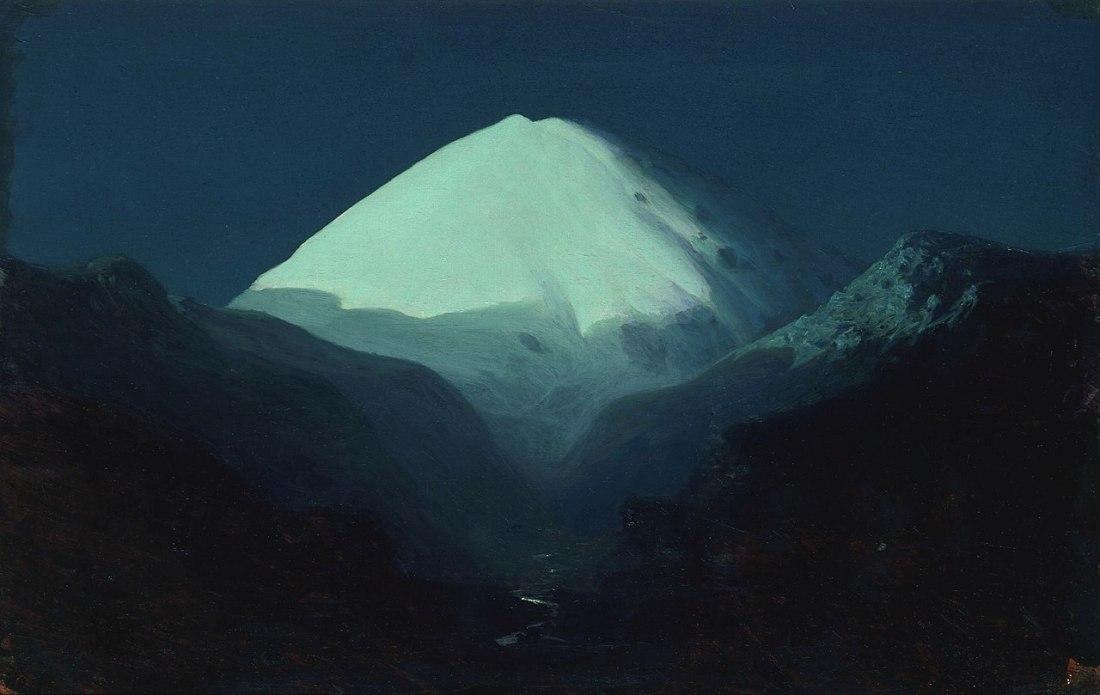 """""""Der Elbrus, Mondnacht."""" 1890-95."""