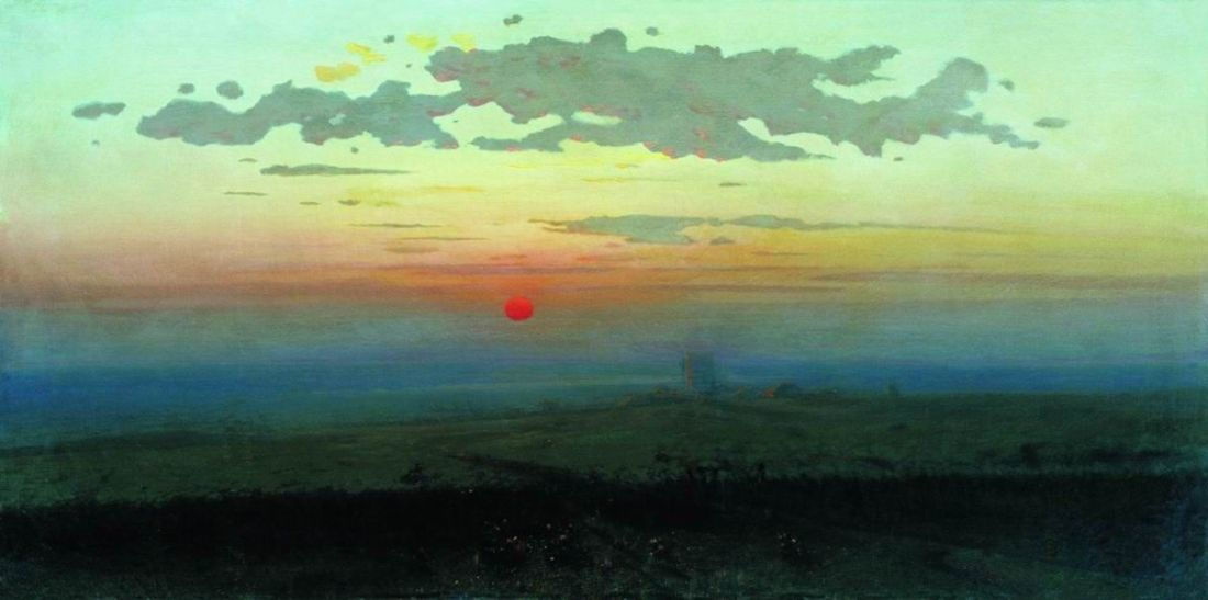 """""""Sunset in the Desert."""" 1900."""