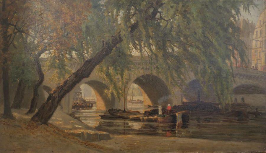 """""""Pont à Paris."""" 19th c."""