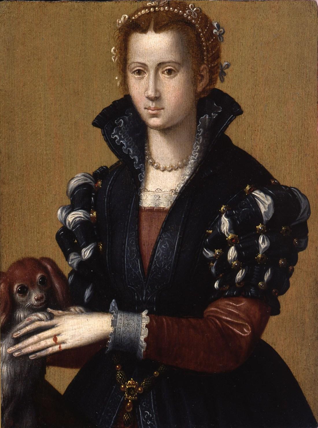 Portrait of Eleonora of Toledo (1522-1562), wife of Cosimo de Medici I, the first Duke of Florence. ca. 1570's.