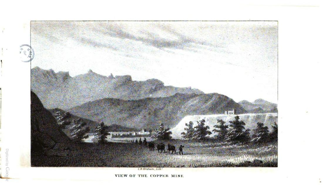 """""""View of the Copper Mine."""" Page 74."""