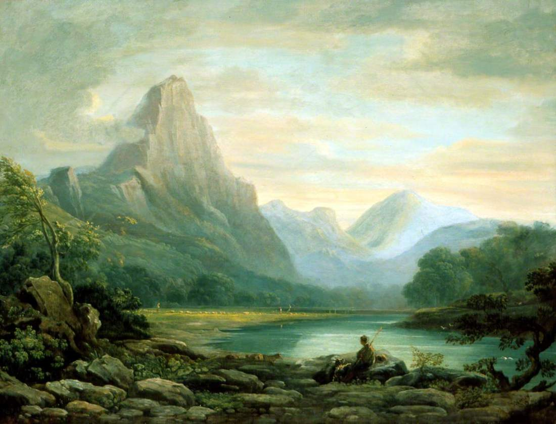 """""""A Welsh Valley."""" 1819."""