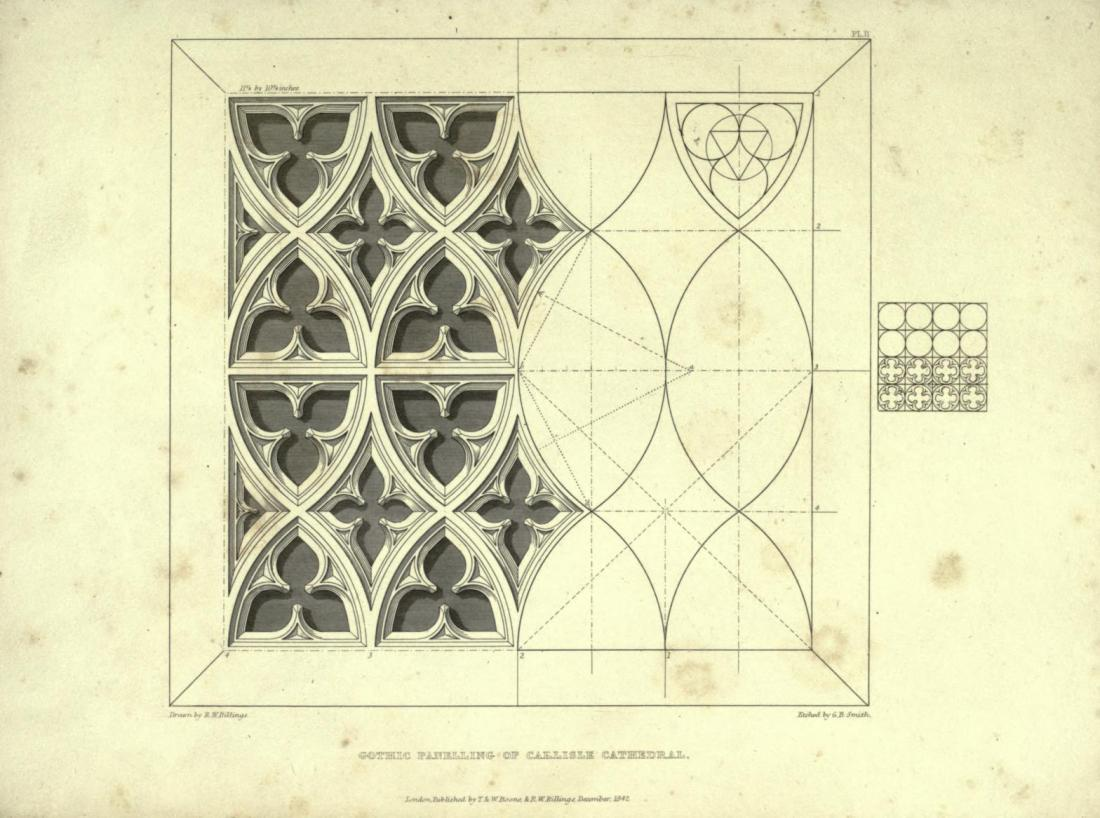 """""""Gothic Panelling of Carlisle Cathedral."""""""