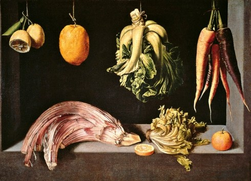 """""""Still Life with Fruit and Vegetables."""" ca. 1602."""