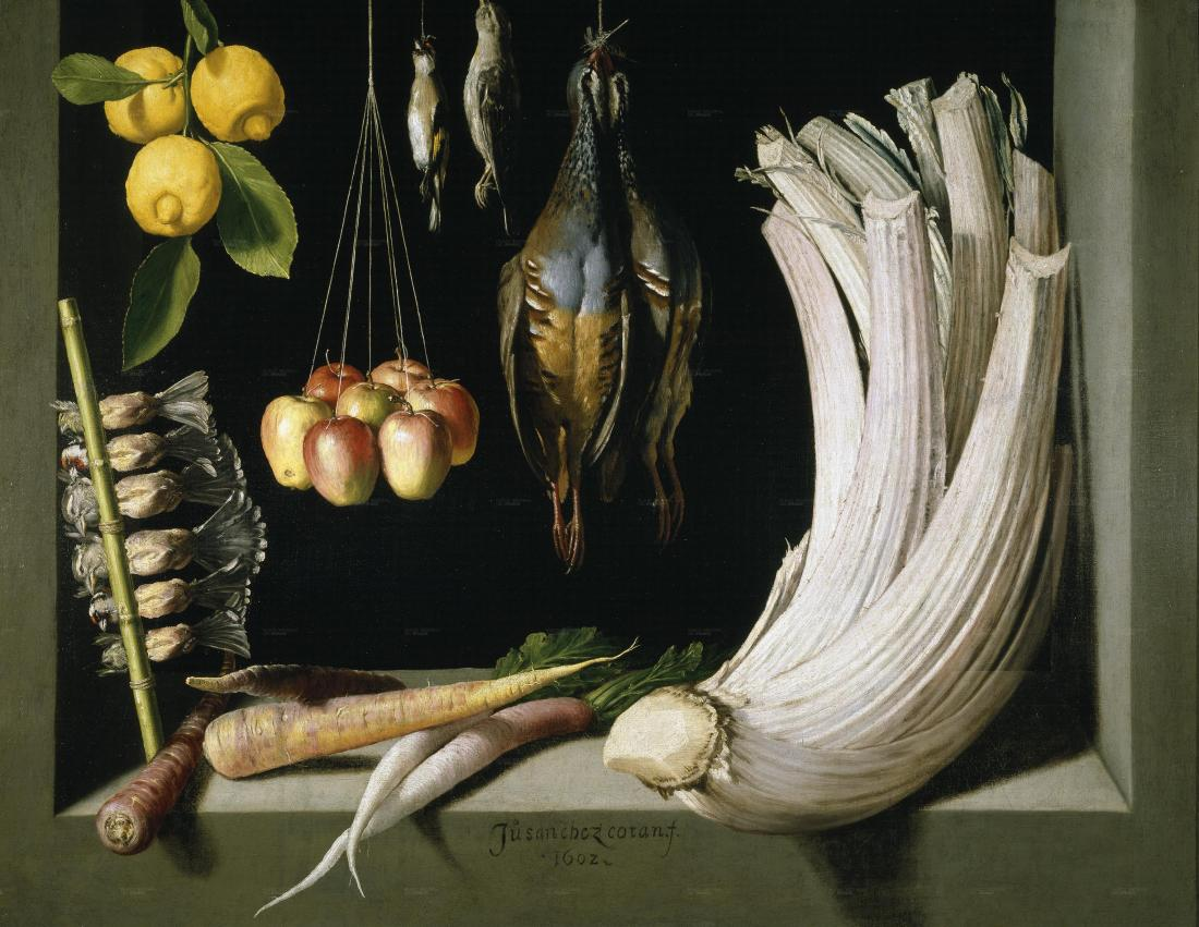 """""""Still Life with Game Fowl,Vegetables and Fruits."""" 1602."""