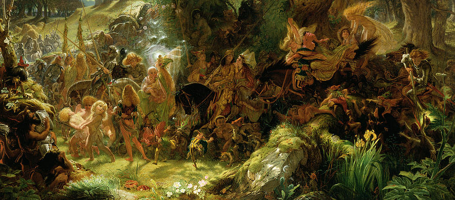 """""""The Fairy Raid: Carrying off a Changeling - Midsummer Eve."""" 1867."""
