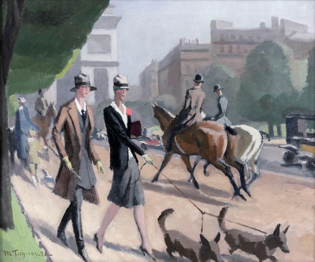 """""""L'avenue Foch."""" 1926."""