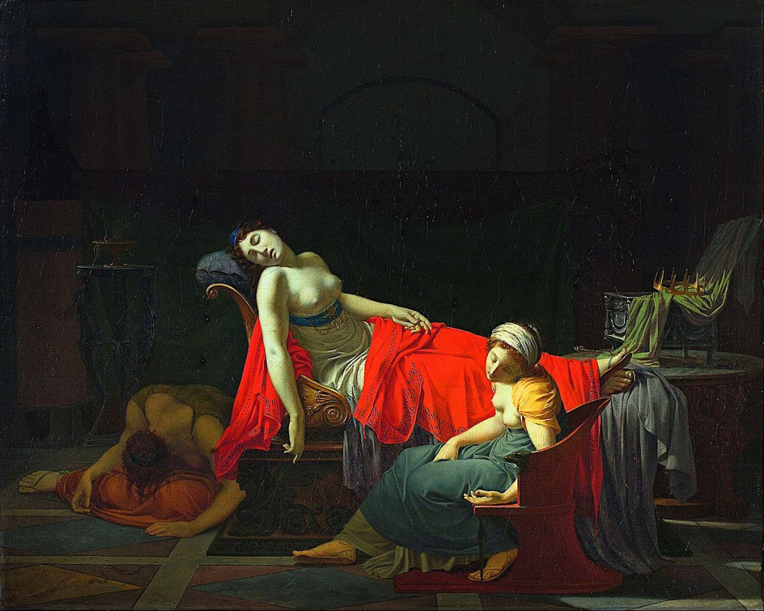 """""""Death of Cleopatra."""" 1796-1797."""
