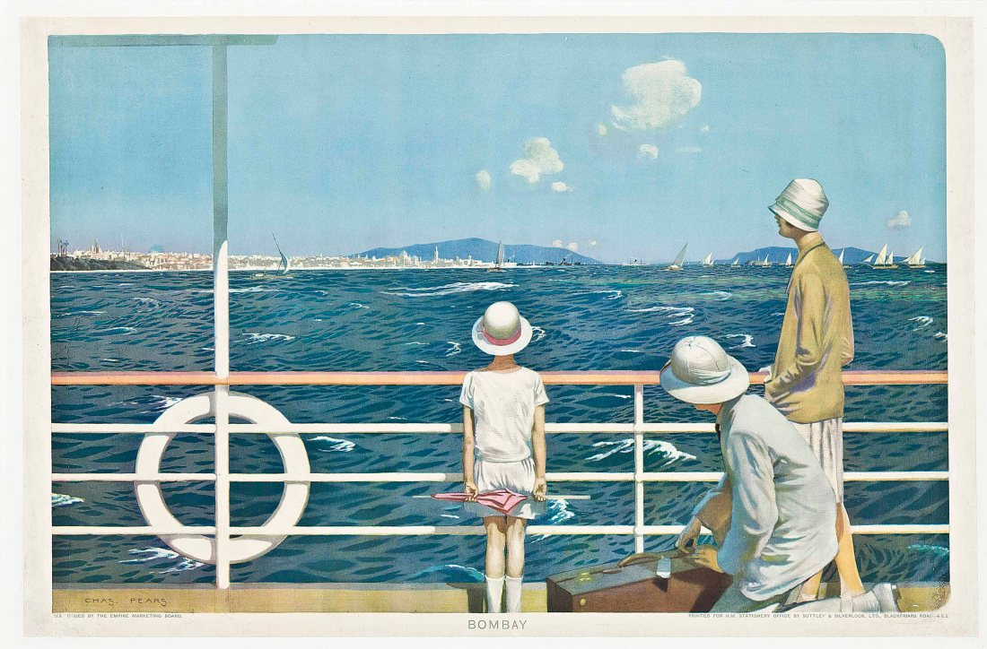 """""""Bombay."""" Painted for the Empire Marketing Board. ca. 1928."""