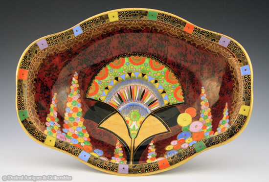"""Bowl in the """"Egyptian Fan"""" design number 3659. 1932."""