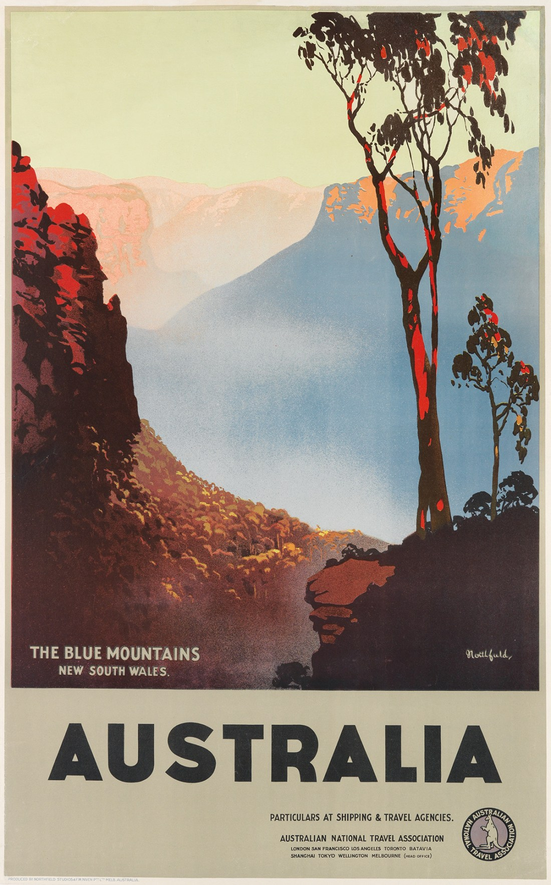 """""""The Blue Mountains, New South Wales."""" ca. 1930's."""