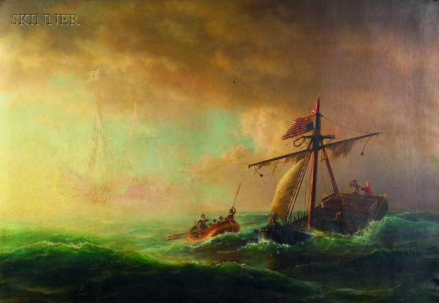 """""""Rescue After Storm."""" 1869."""