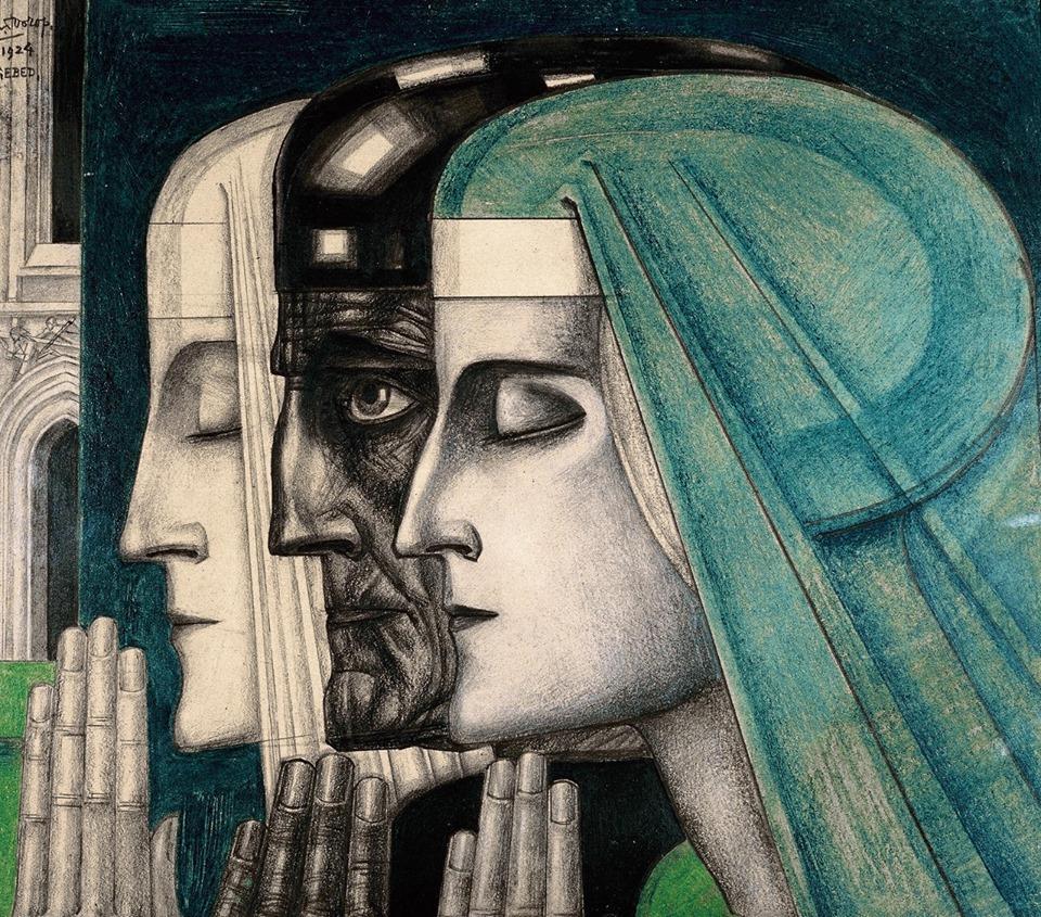 """""""Bezonkenheid, Meditatie, Vuur."""" 1923."""