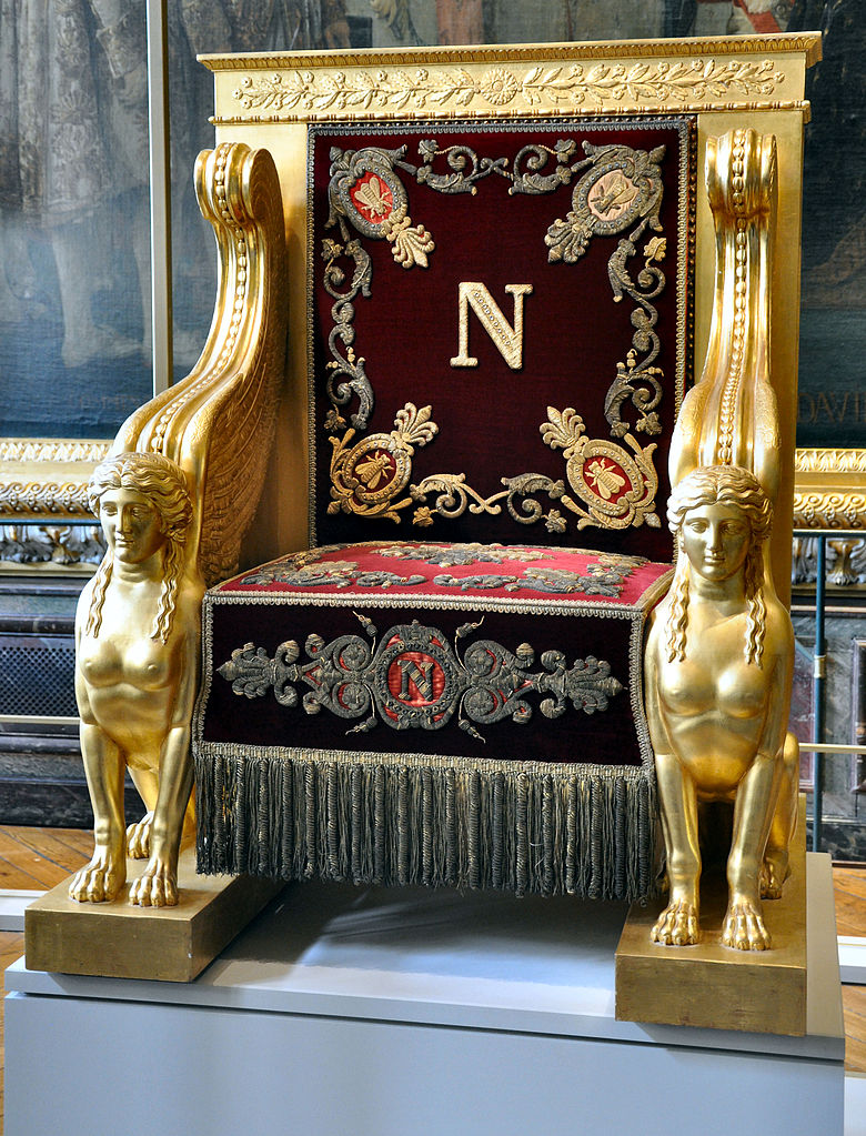 Throne of Napoleon to be used at the Senate.