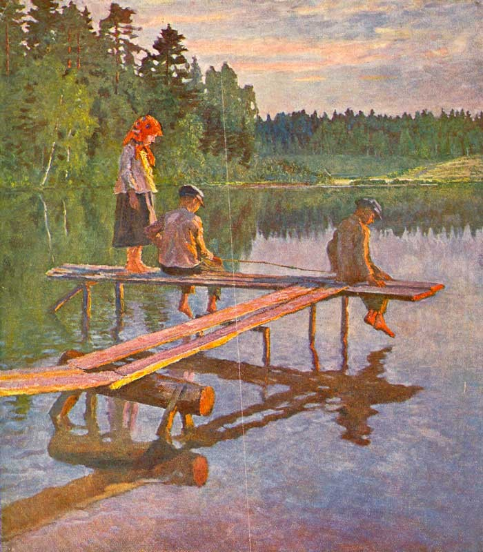 """""""Evening (The Angler)."""" 1925."""