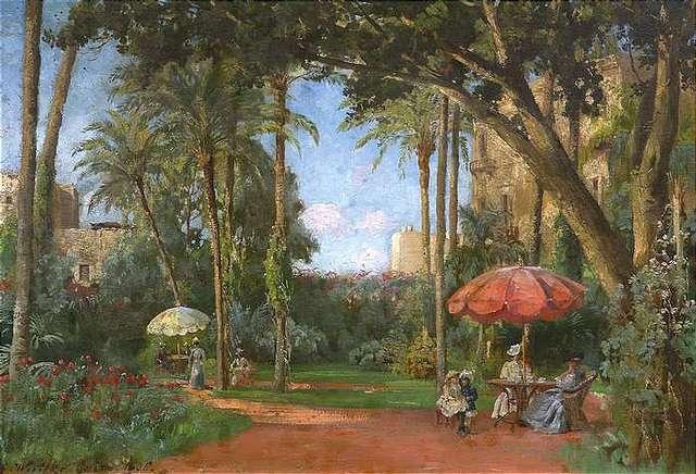 """Garten in Kairo."" 1906."