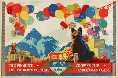 """""""The Produce of the Home Country Crowns the Christmas Feast."""" 1927."""
