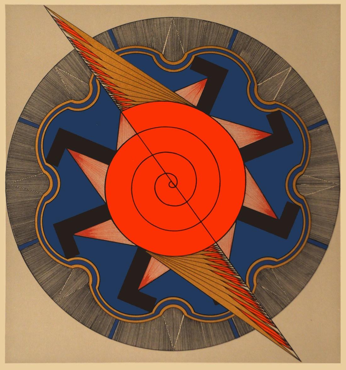 """""""Eternal Energy."""" ca. 1930. Silkscreen."""