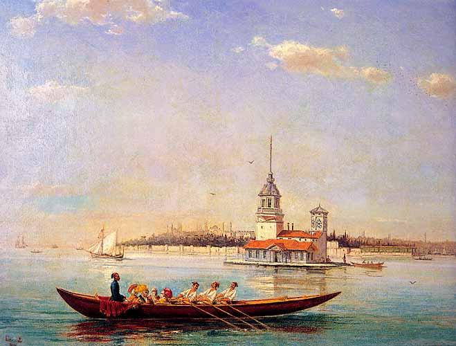 """""""Kızkulesi"""" (Maiden's Tower). 1894. Oil on canvas."""