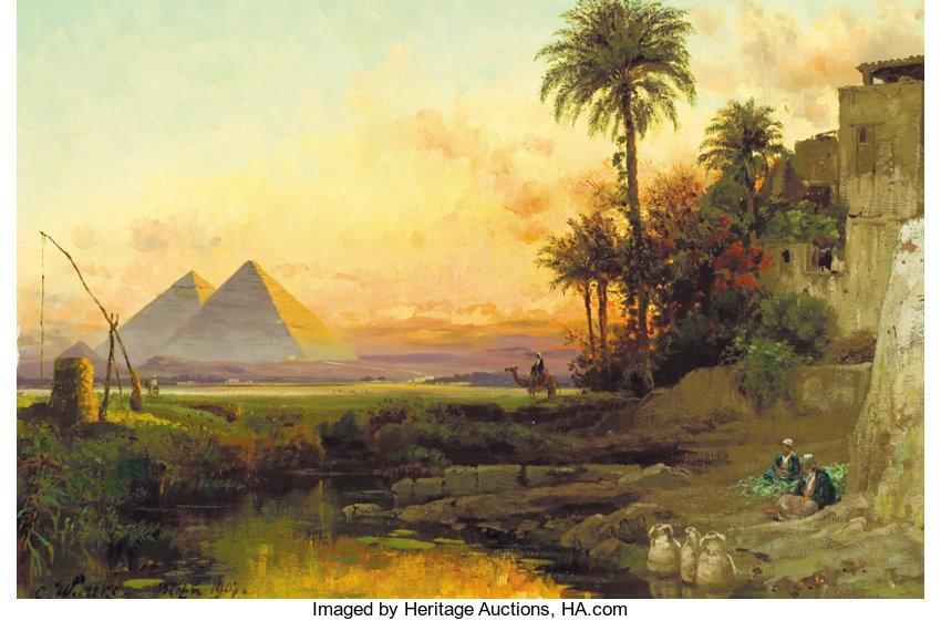 """""""The Pyramids at Dusk."""" 1907."""
