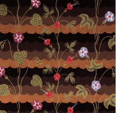 """""""Morning Glories."""" ca. 1925. Design for fabric."""
