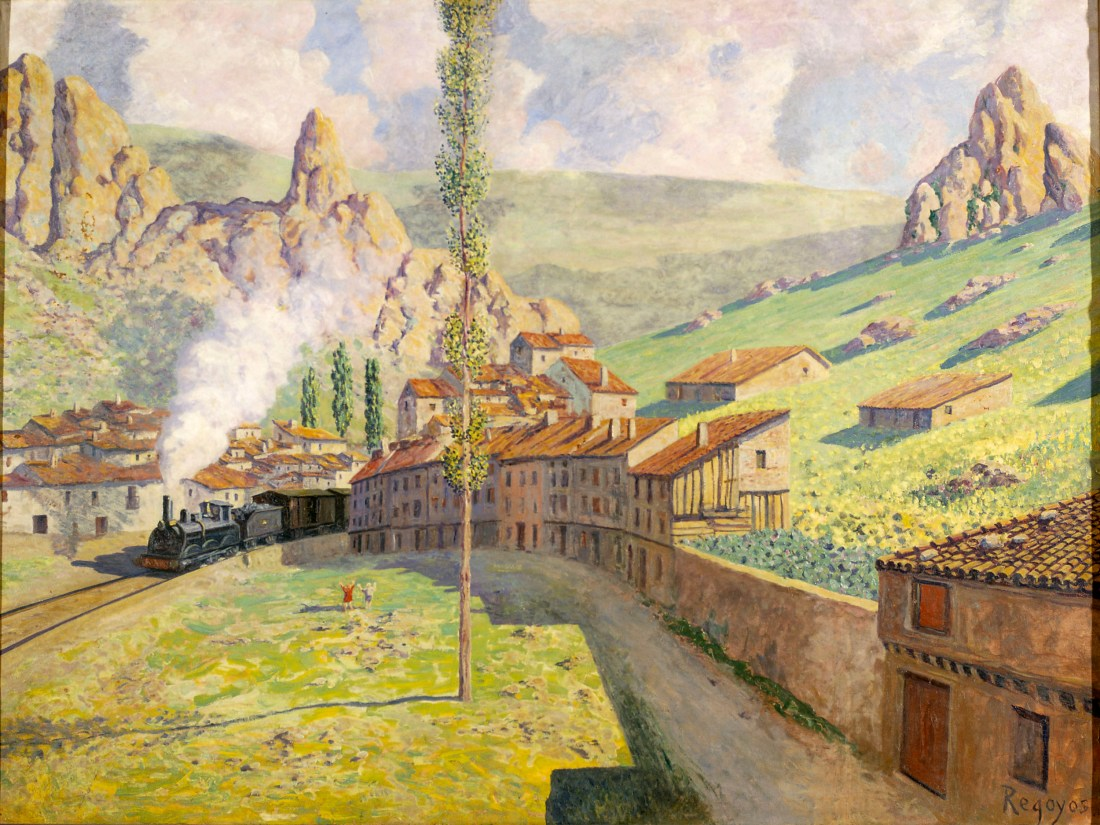 """Pancorbo: Passing Train."" 1901."