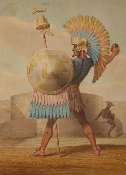 """""""Mexican general in of the time of Montezuma, 1508."""""""