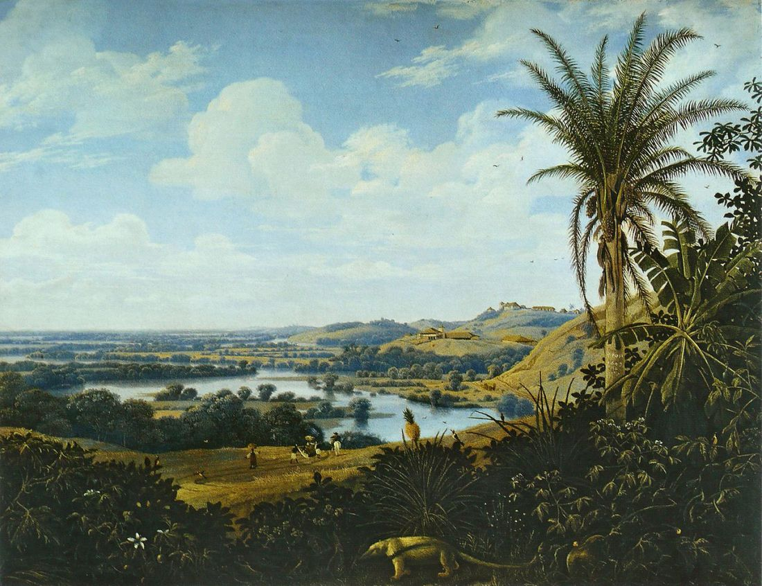 """""""Brazilian landscape with anteater."""" 1649."""