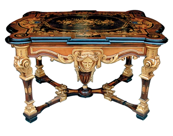 Table. Before 1887. Renaissance Revival in style.