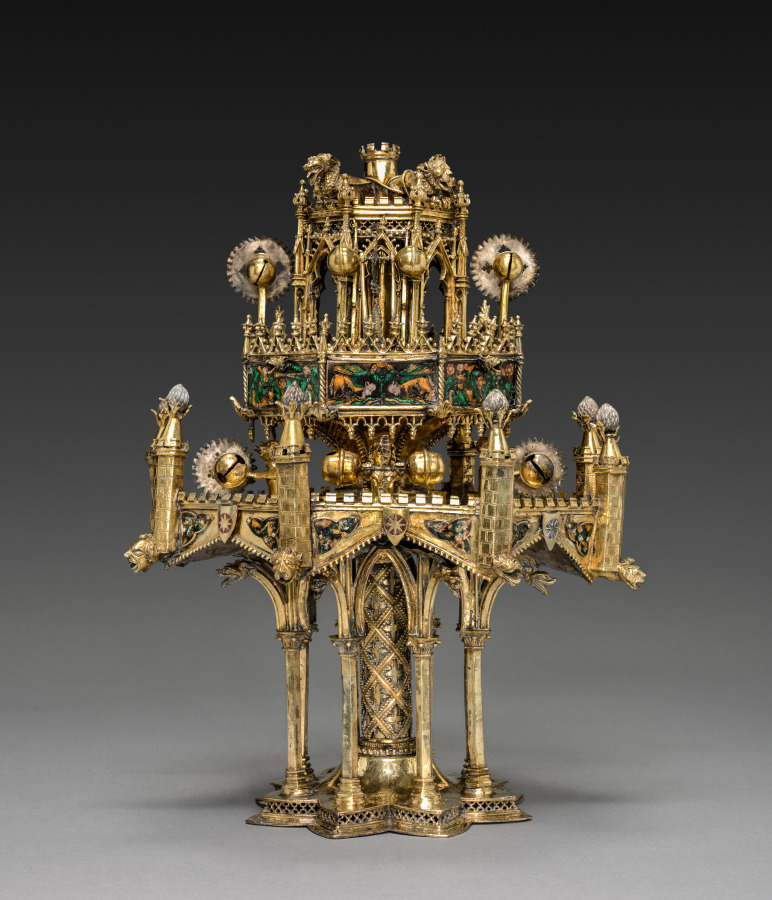 Table fountain. ca. 1320-40. Made in Paris, France.