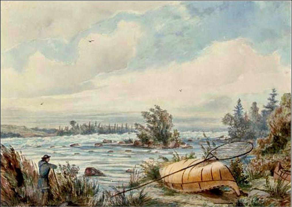 """""""Rapids at Sault Sainte Marie (Ontario)."""" Undated."""