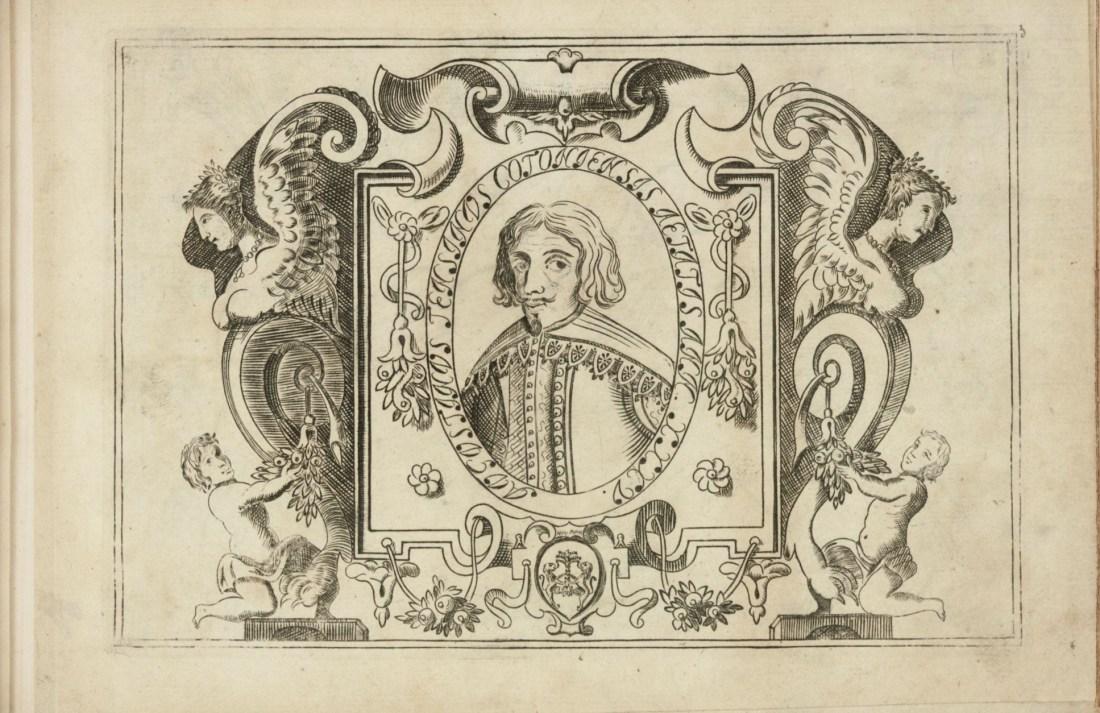 Engraving from Le meraviglie della penna conchiudenti in diversi modi di scrivere delineati, et intagliati.. 1641.