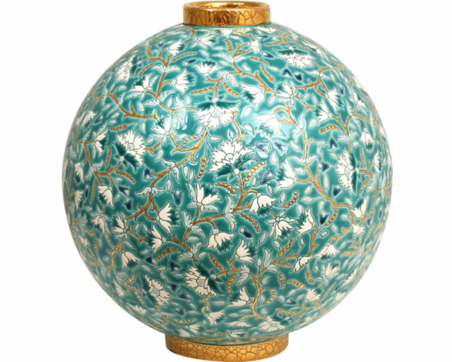 """""""Astro Ball Flo (Inheritance) """" from the Heritage Collection. Contemporary. French. Green in color."""