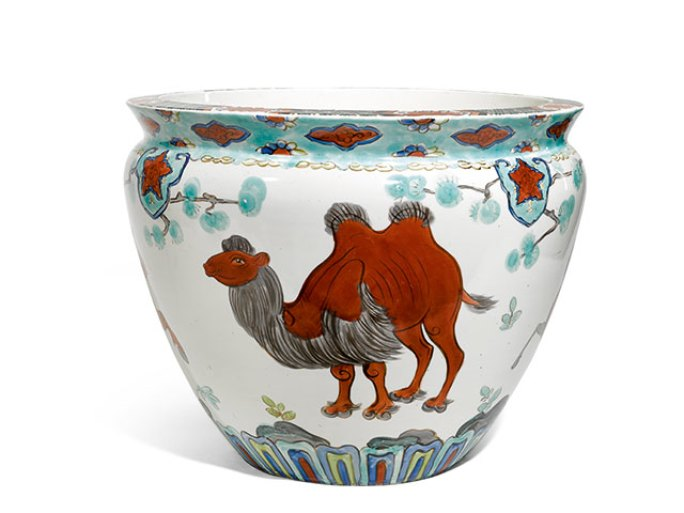 Kumys pot, presumably part of a commission ordered by the government of the Soviet Union, for the Mongolian People's Republic, 1939.