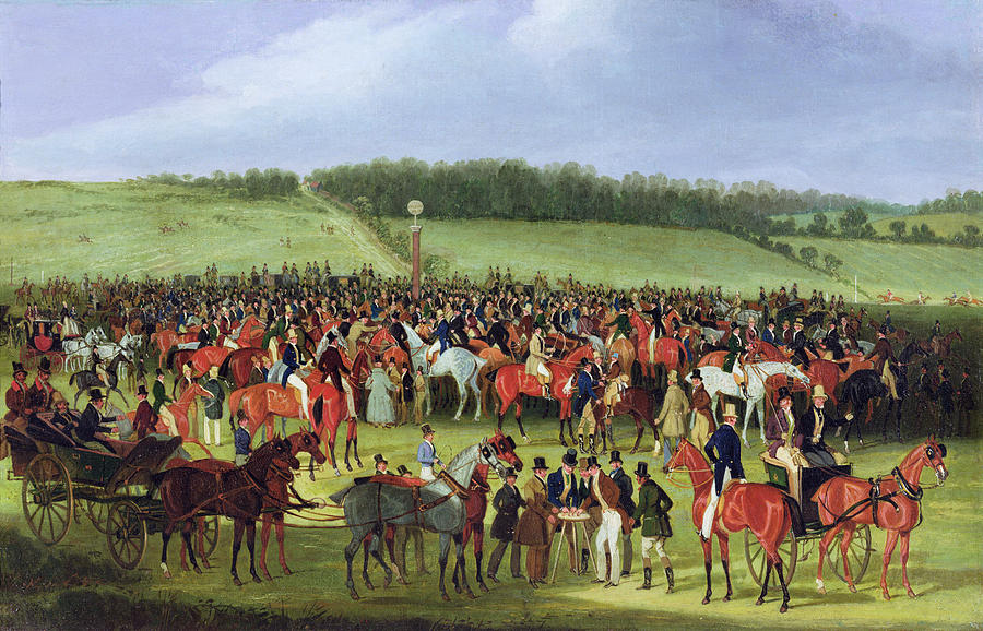 """""""Epsom Races - The Betting Post."""" 19th c."""
