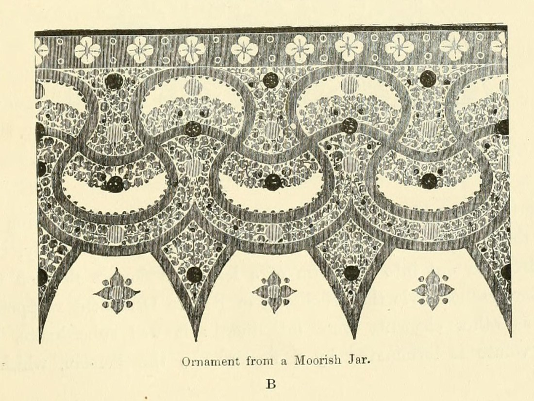 """Ornament from a Moorish jar. B."" Page 5."