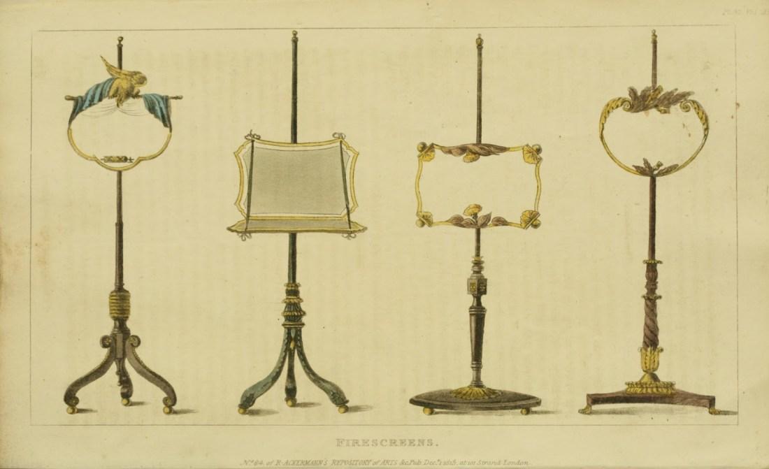 Firescreens. Plate 32. 1815.