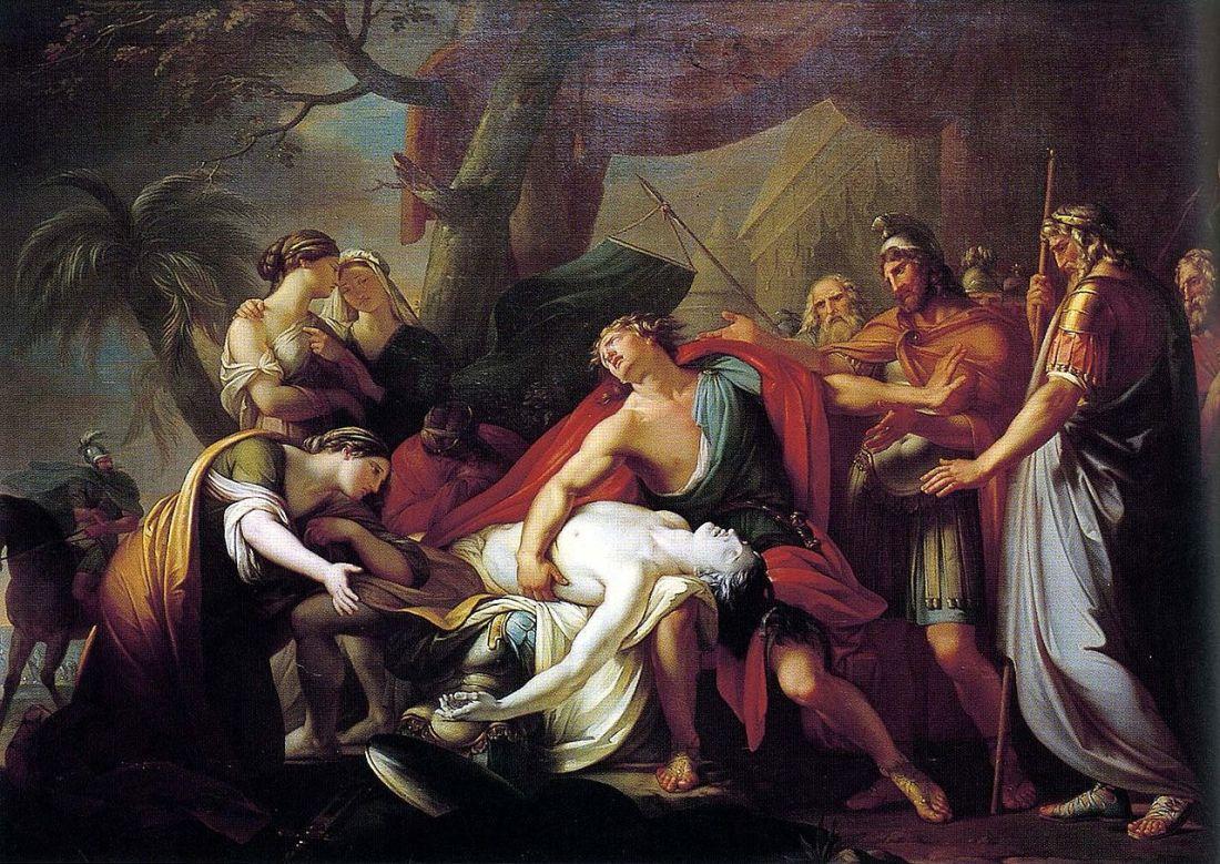 """""""Achilles Lamenting the Death of Patroclus."""" 1760-63."""